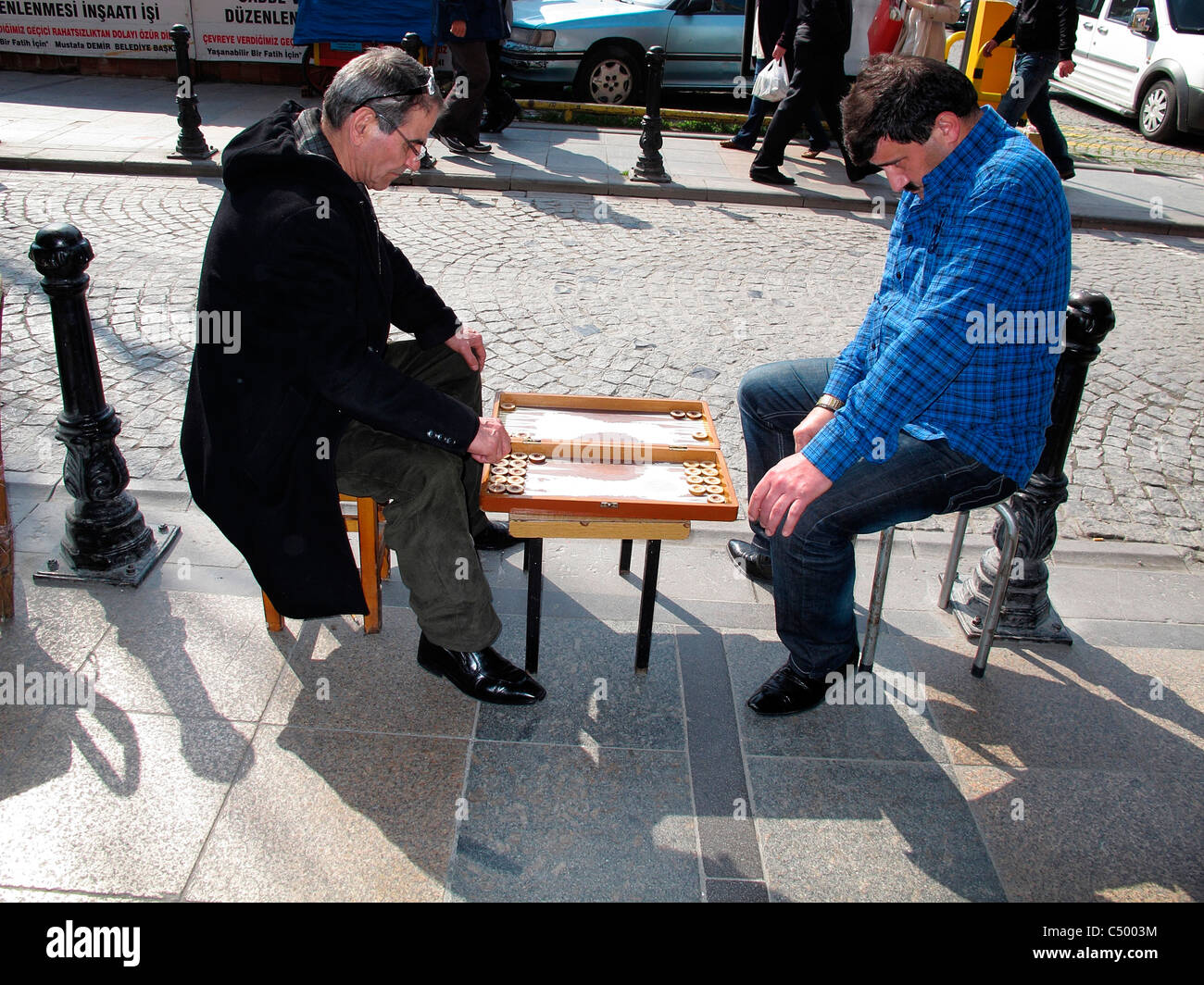 Men Play Backgammon Stock Photos Images Old Town Coffe 2 In1 Isi 15 Turkey Istanbul Sultanahmet Image
