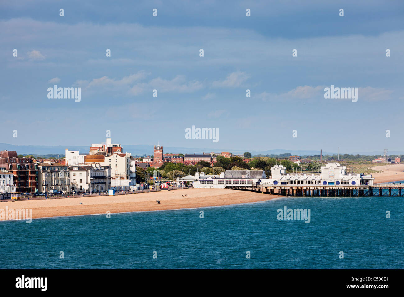 Southsea Pier and Beach, Portsmouth, England UK Stock Photo