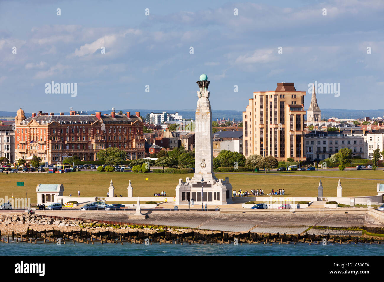 Portsmouth Naval Memorial on Southsea Common, Portsmouth, Hampshire England, UK Stock Photo