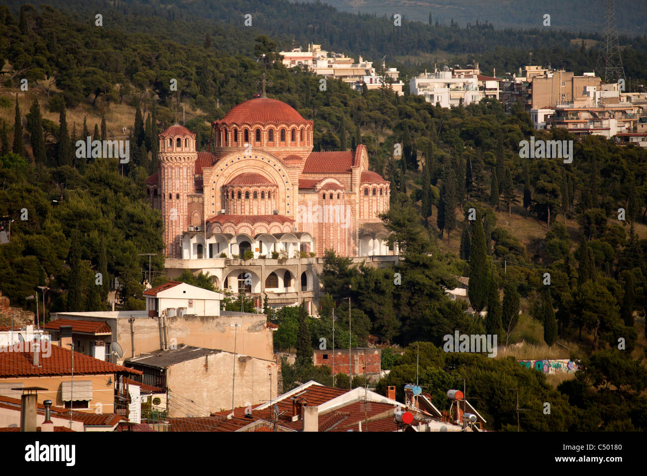 the church Agios Pavlos in Thessaloniki, Macedonia, Greece - Stock Image