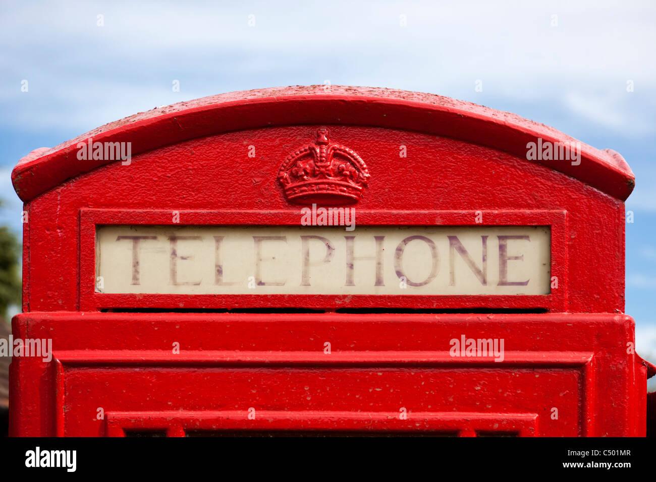 Phone box detail, England, UK - Stock Image