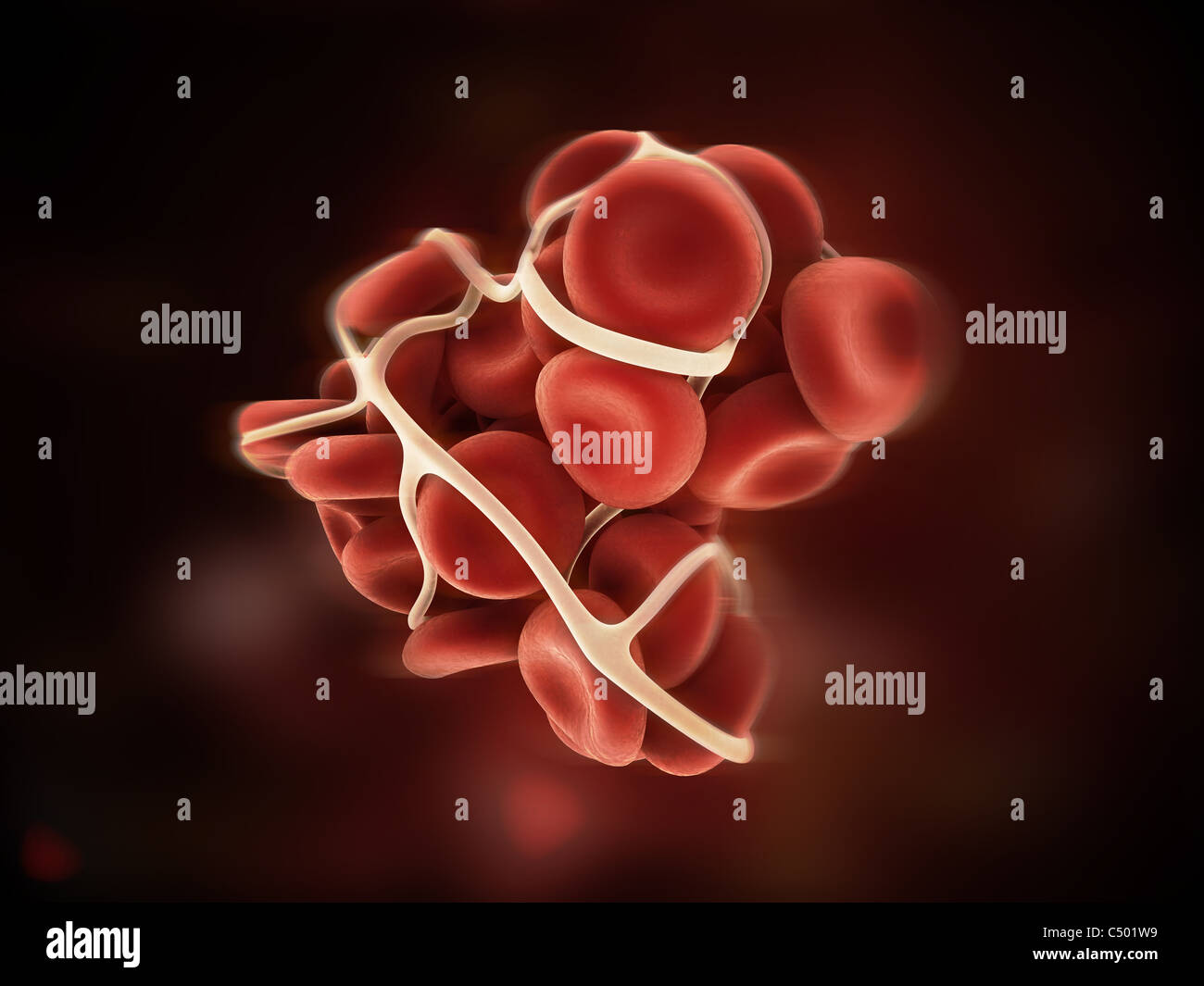 blood clot - Stock Image