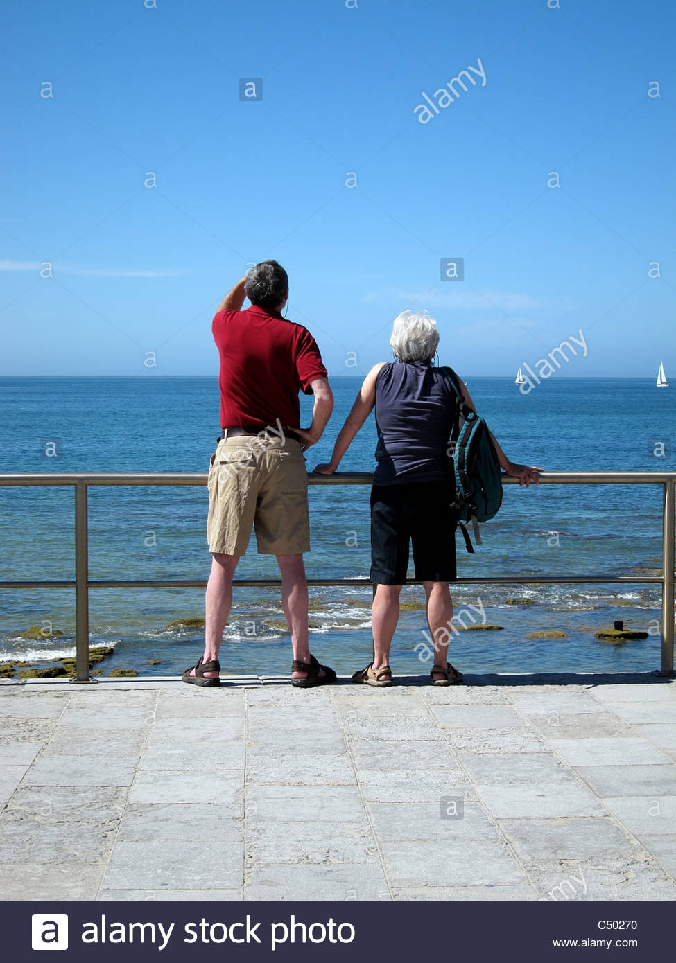 Admiring the view - Stock Image