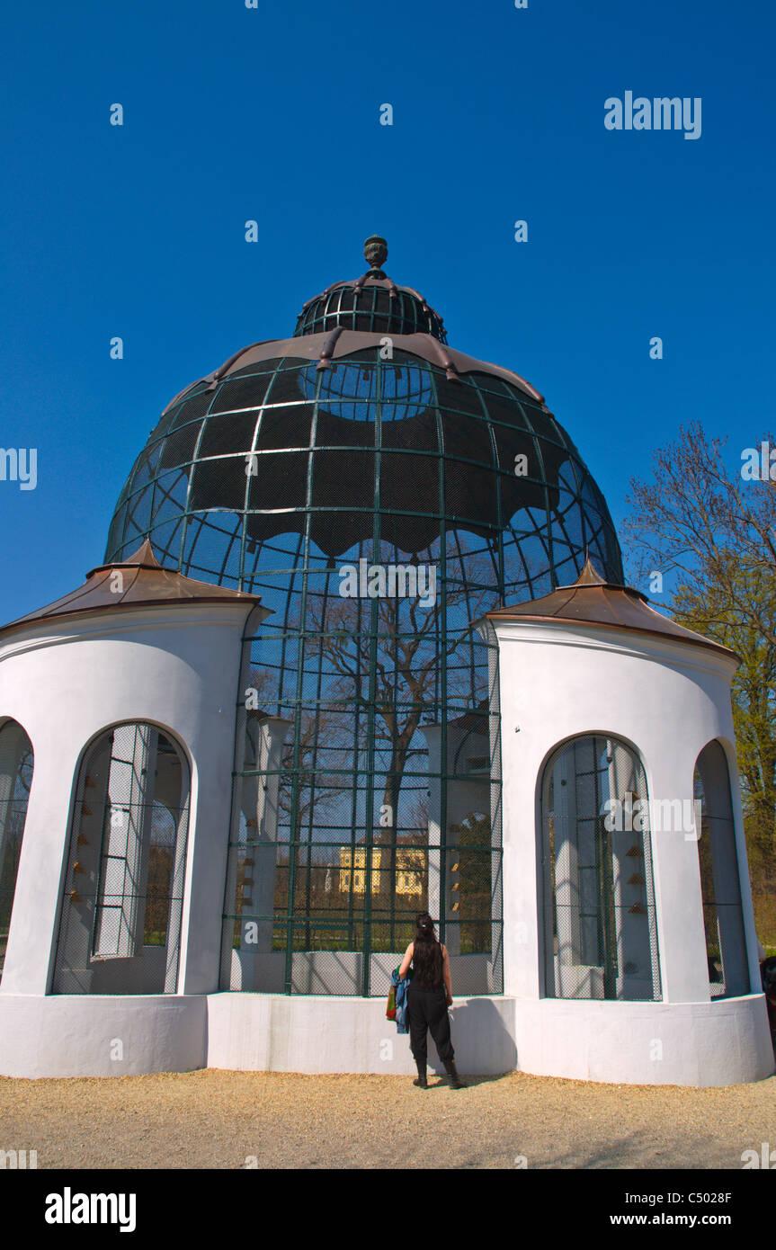 Taubenhaus the Colonnary housing birds Schloss Schönbrunn palace grounds Vienna Austria central Europe - Stock Image