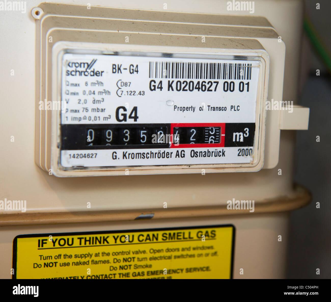 gas meter - Stock Image