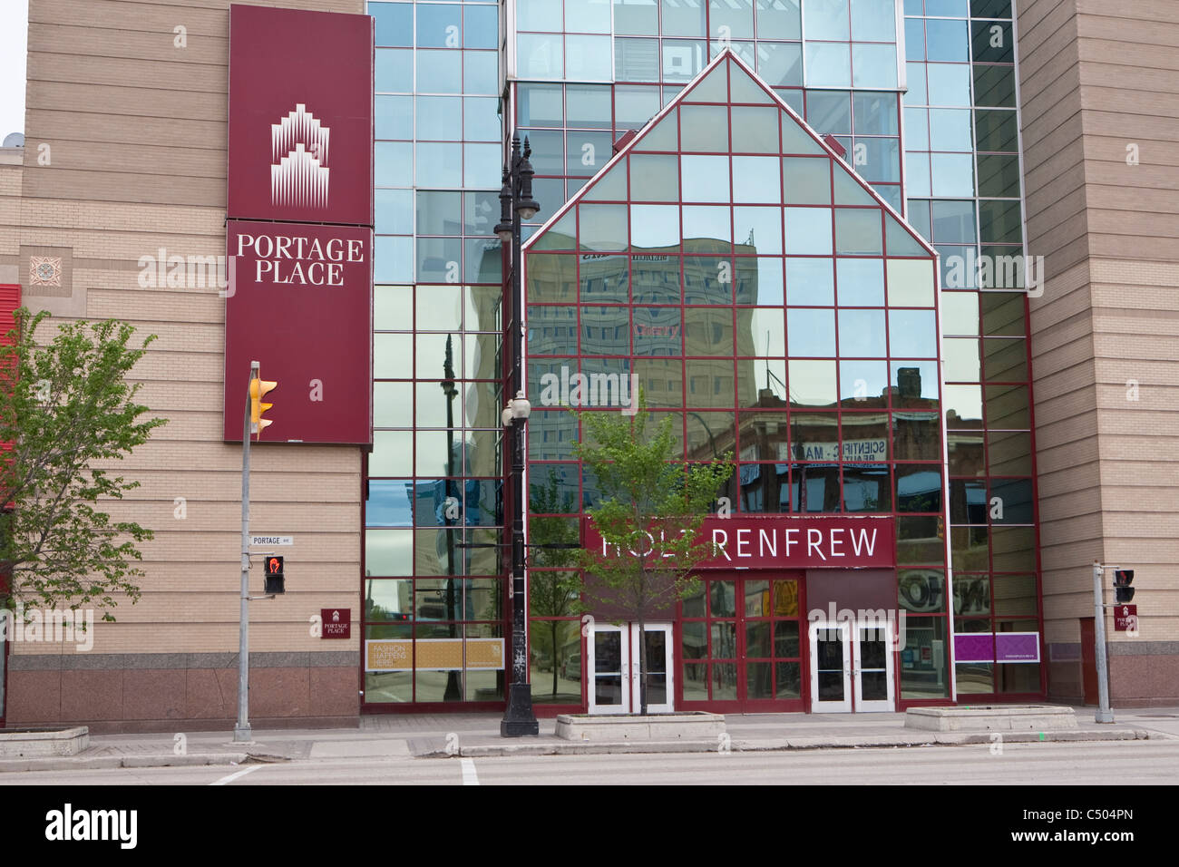 Portage Place is pictured in Winnipeg - Stock Image