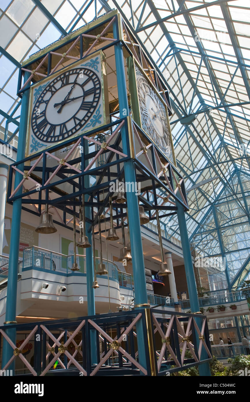 he interior of Portage Place is pictured in Winnipeg Stock Photo
