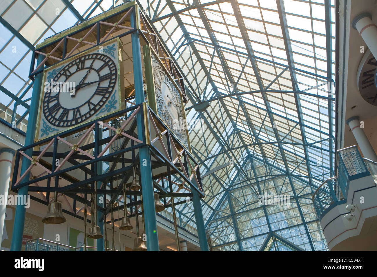he interior of Portage Place is pictured in Winnipeg - Stock Image