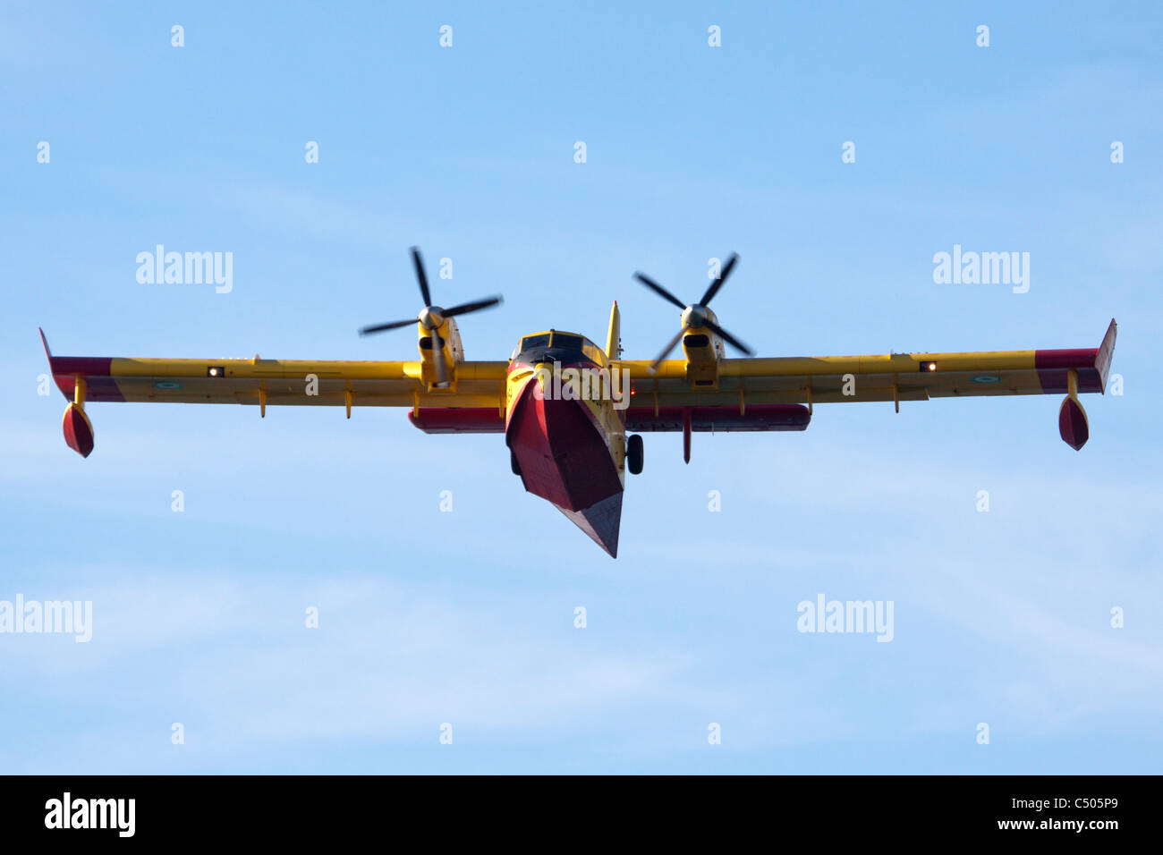 Greek Air force Canadair CL-415GR fire fighting plane photographed in Israel December 2010 - Stock Image