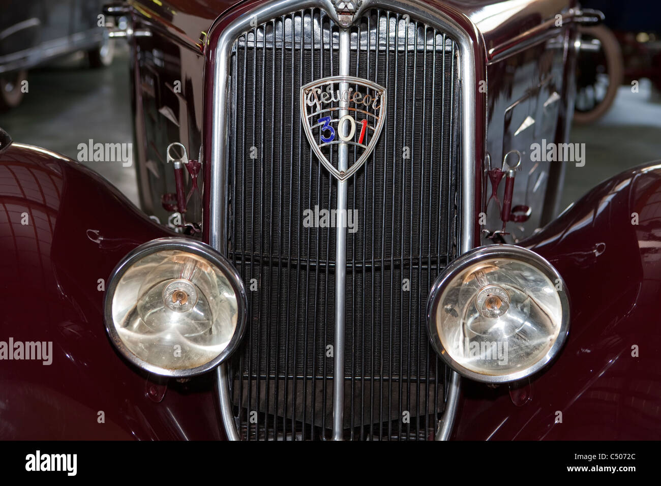 Detail, Peugeot 301 D coupe from 1936 - Stock Image