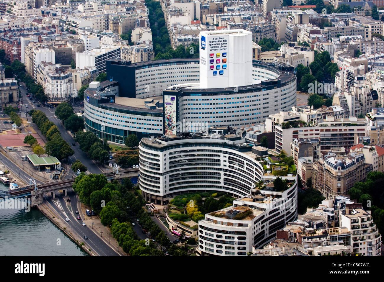 The Maison de la Radio (Radio France headquarters) seen from the