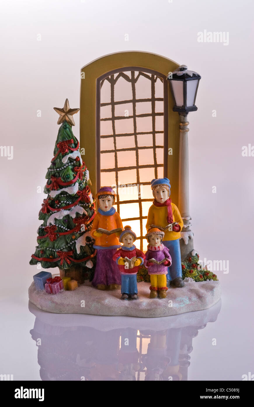 Christmas Carol Singers Decorations.Carol Singers Outside An Illuminated Window Christmas