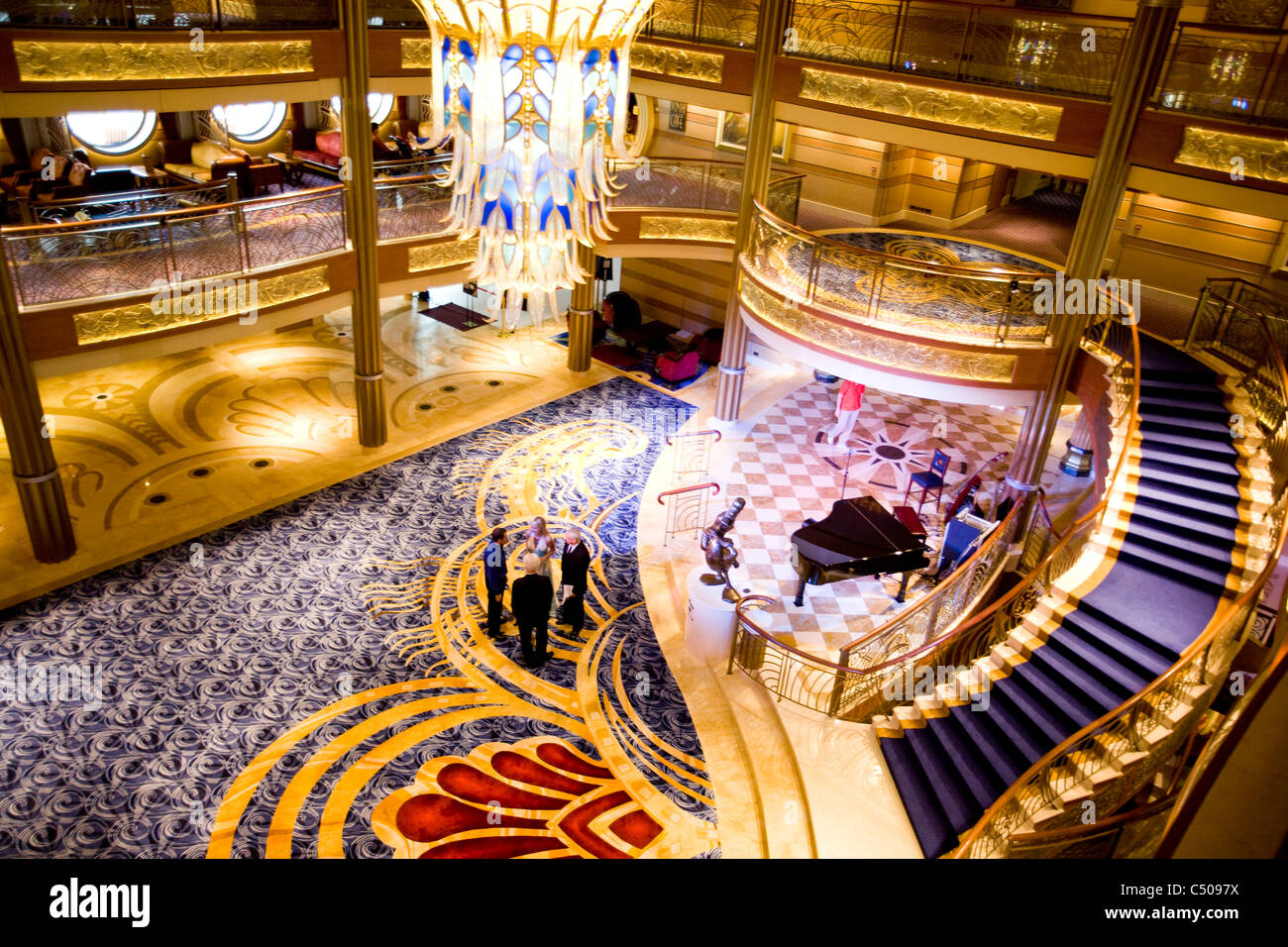 Atrium Lobby Disney Dream Cruise Line