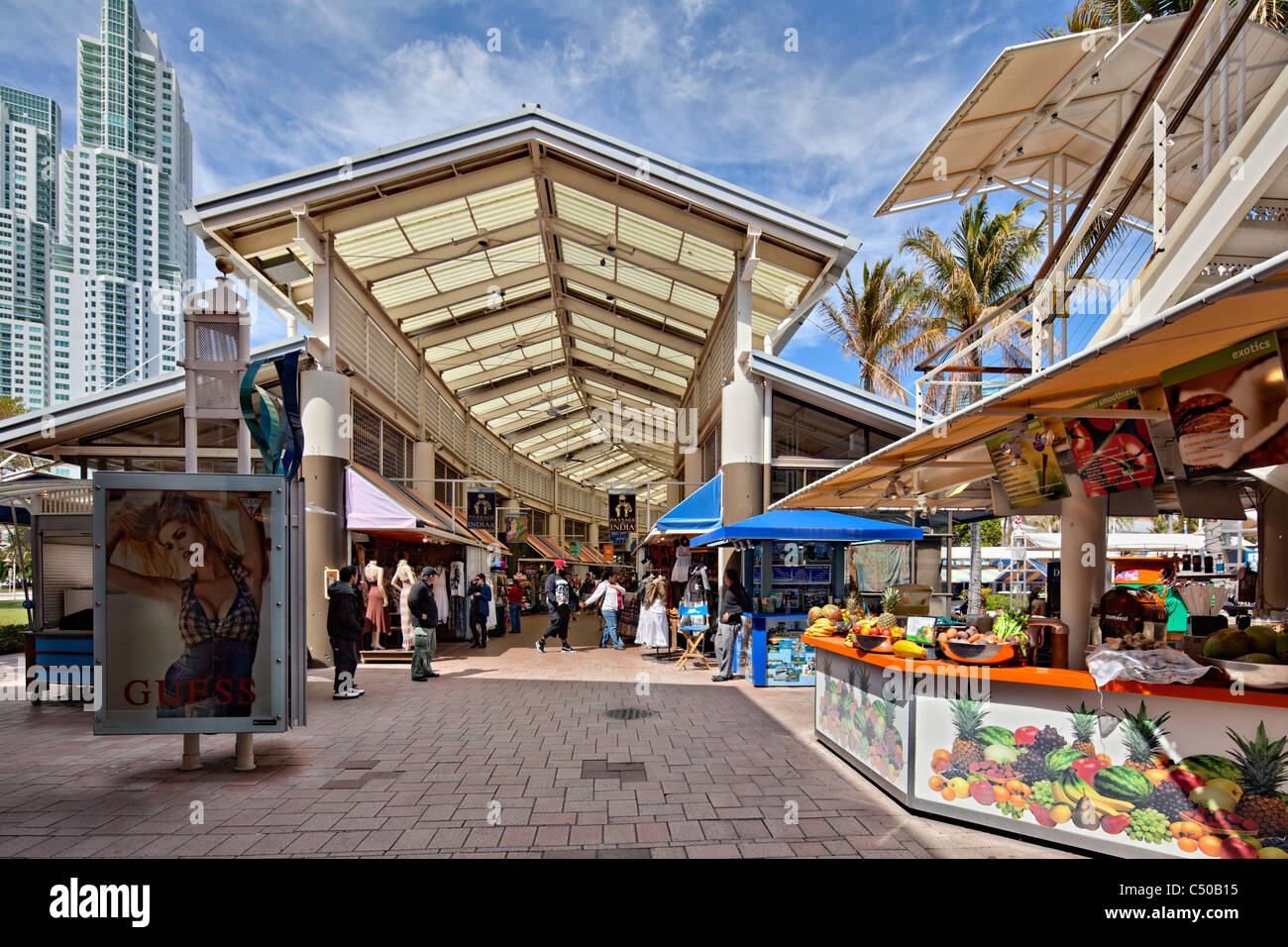 Bayside Marketplace Downtown Miami - Stock Image