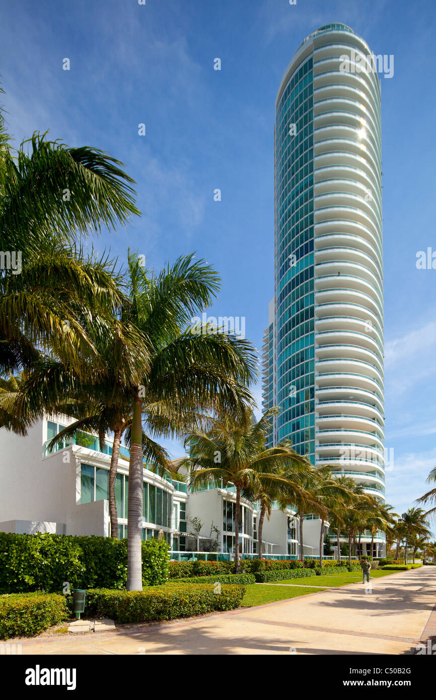 Miami Beach Marina condos - Stock Image