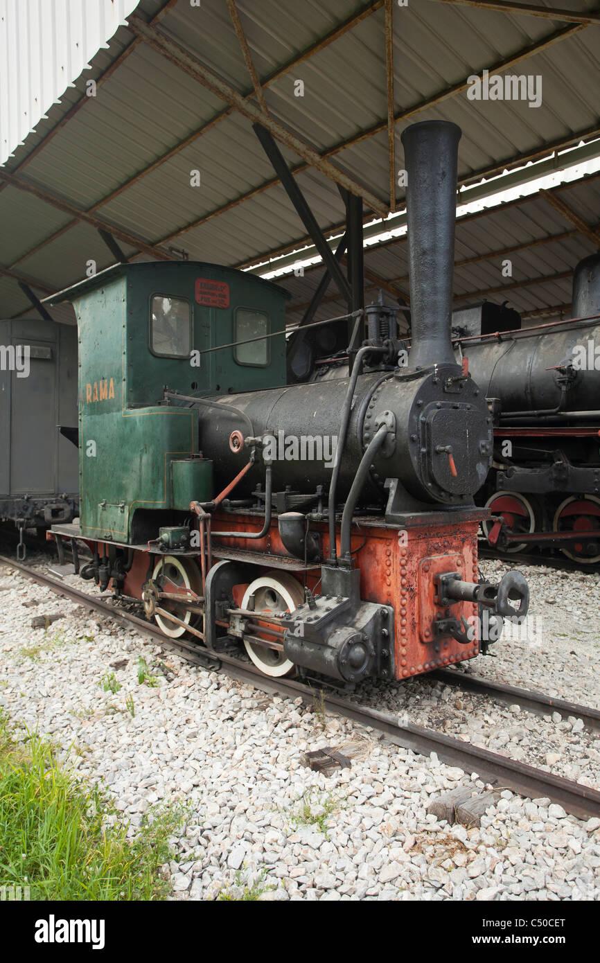 Old Locomotive and train museum, Uzicka Pozega, Serbia - Stock Image