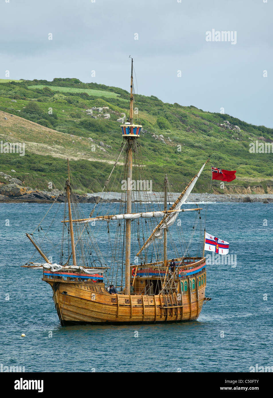 The Matthew, a replica of John Cabots ship - Stock Image