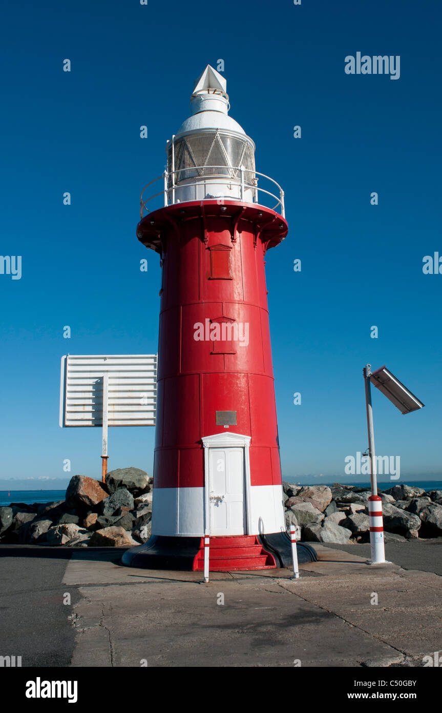 Red lighthouse in Fremantle Western Australia - Stock Image