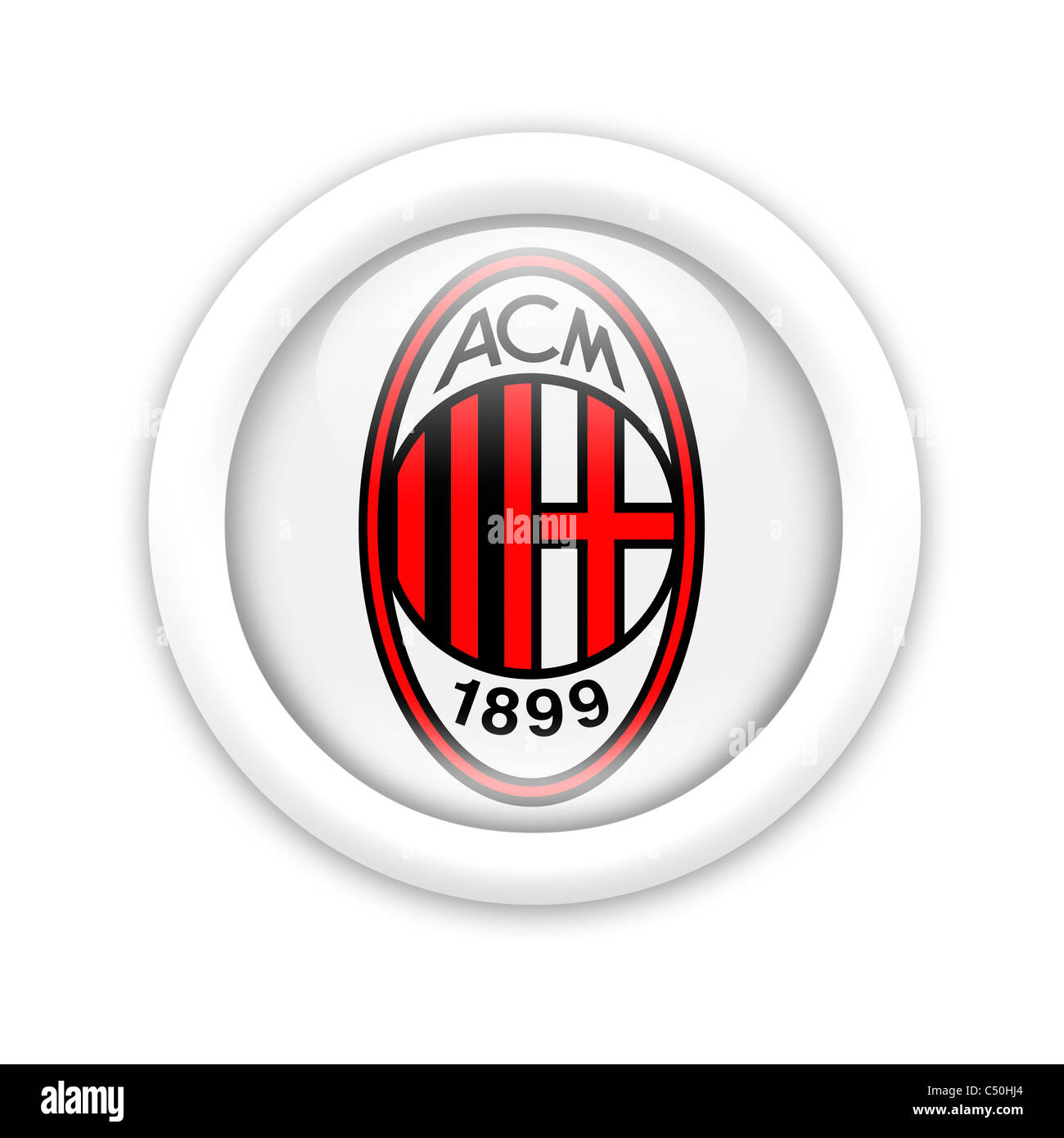 AC A.C. Milan logo flag symbol icon Stock Photo: 37507852 - Alamy