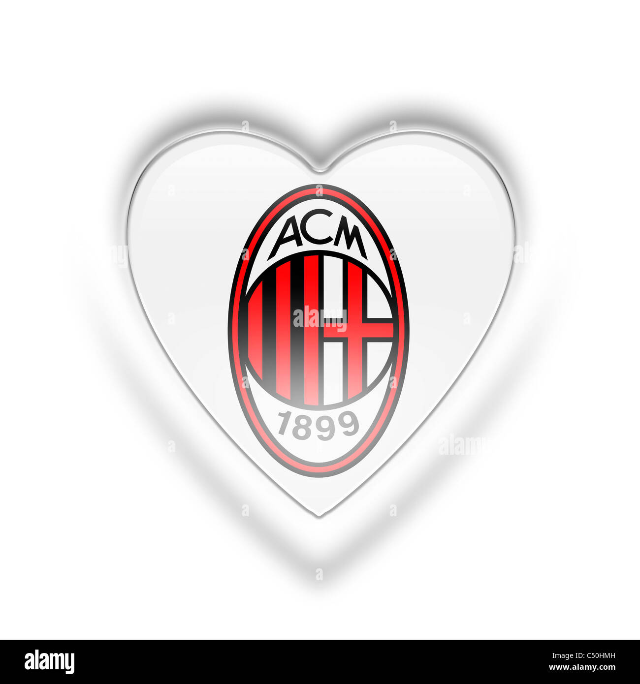 AC A.C. Milan logo flag symbol icon Stock Photo: 37507921 - Alamy