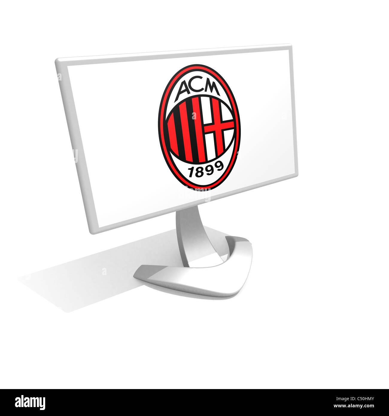 AC A.C. Milan logo flag symbol icon Stock Photo: 37507931 - Alamy