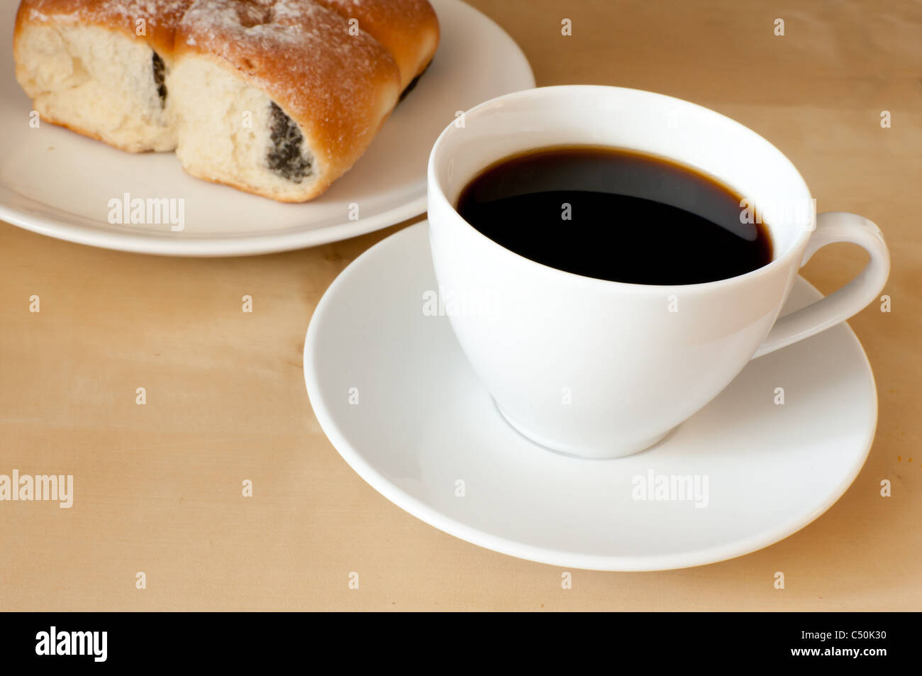 5c5b3b76871 Espresso Coffee and Stuffed Cakes on the Table Stock Photo: 37508996 ...