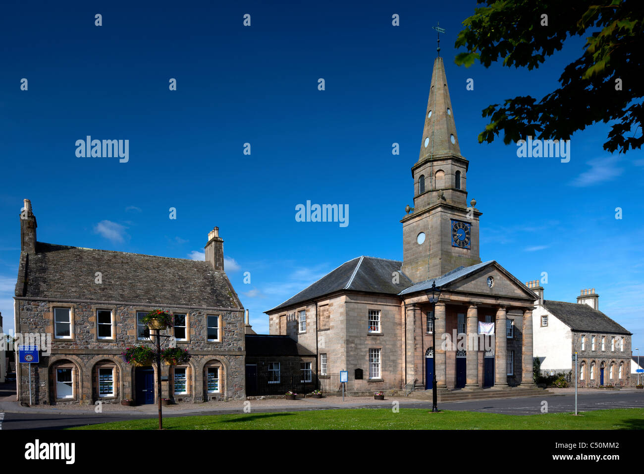 Bellie Parish Church in Fochabers village, Moray Firth, Scotland - Stock Image