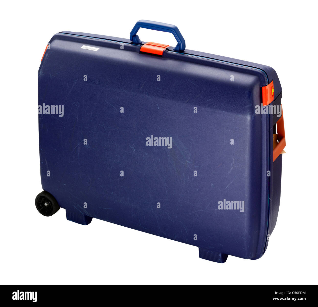 A cut out of a travel suitcase - Stock Image