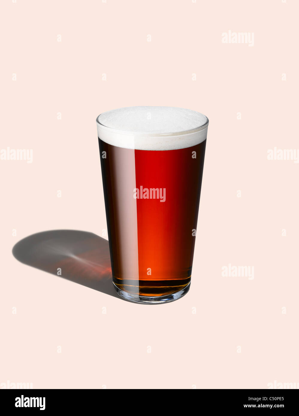 A graphic shot of a pint of beer - Stock Image