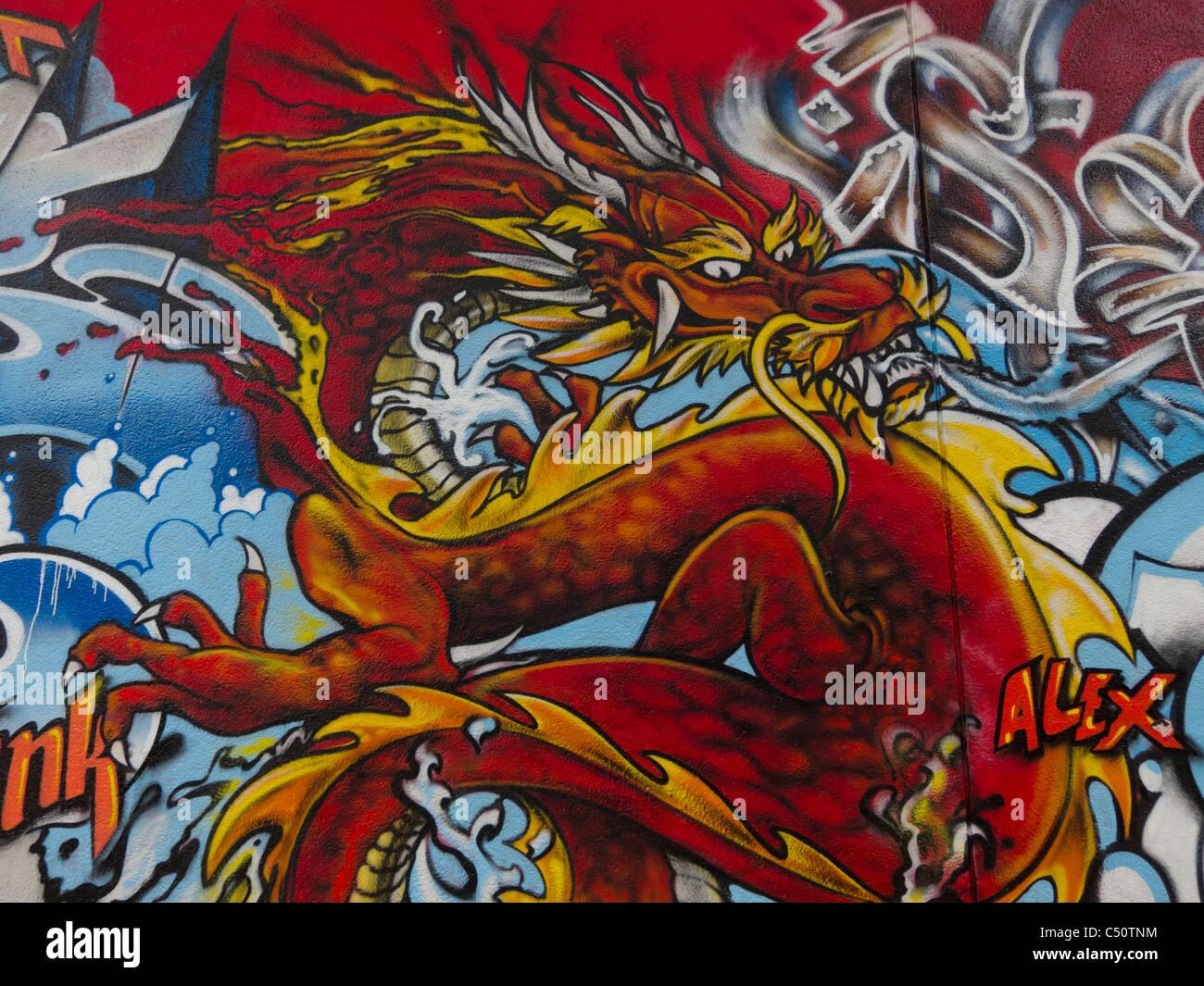 Paint Spray Red Dragon