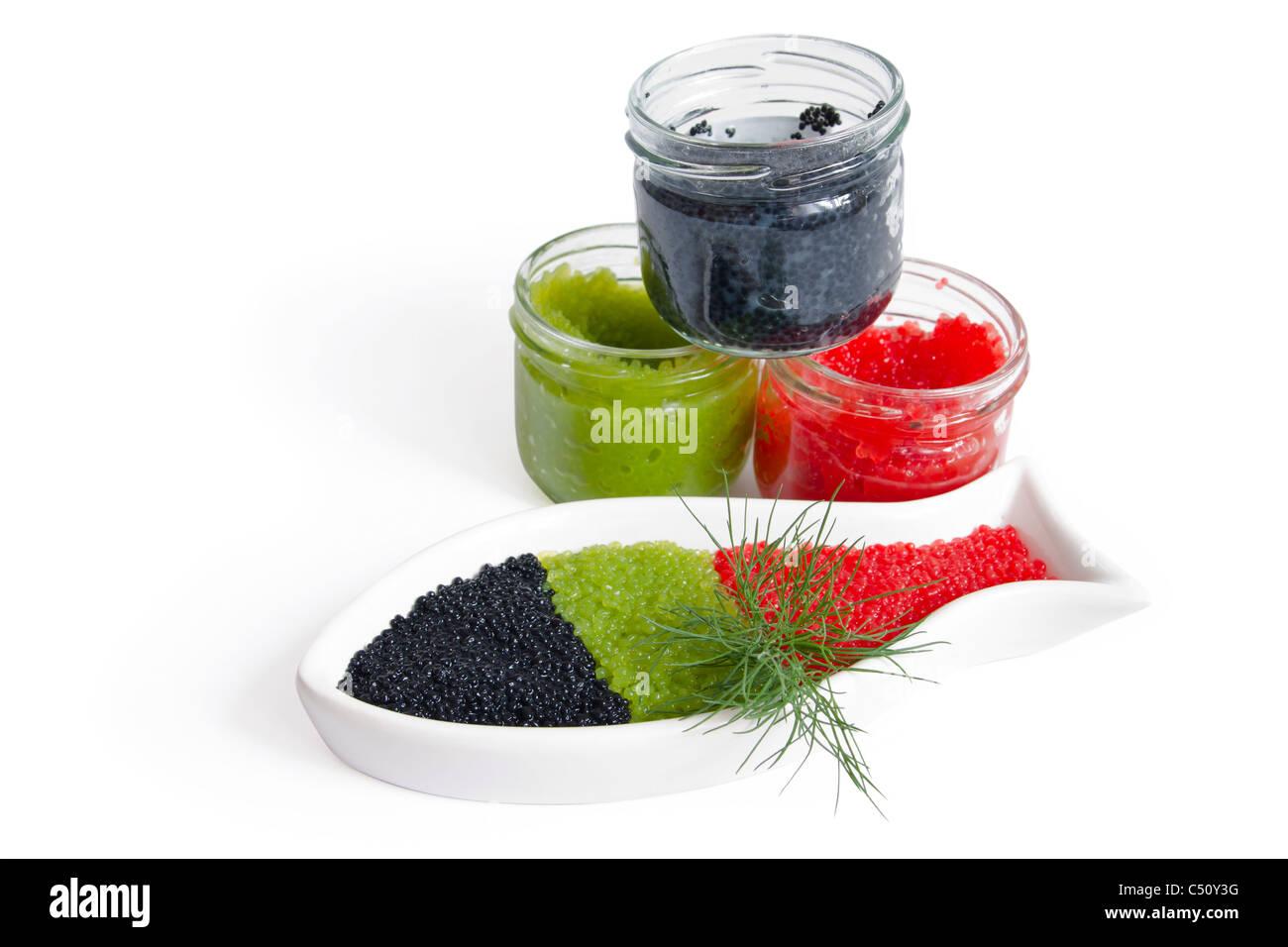caviar gourmet - Stock Image