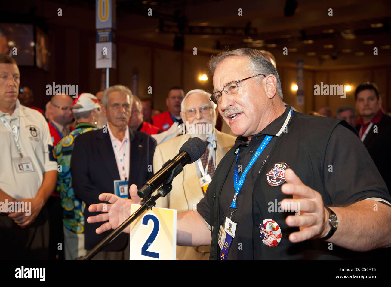 Fred Gegare Accepts Nomination as Candidate for Teamsters President - Stock Image