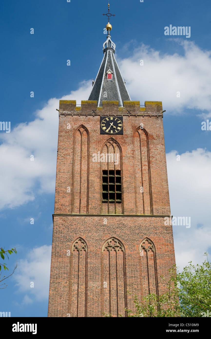 Church tower Naarden Vesting - Stock Image
