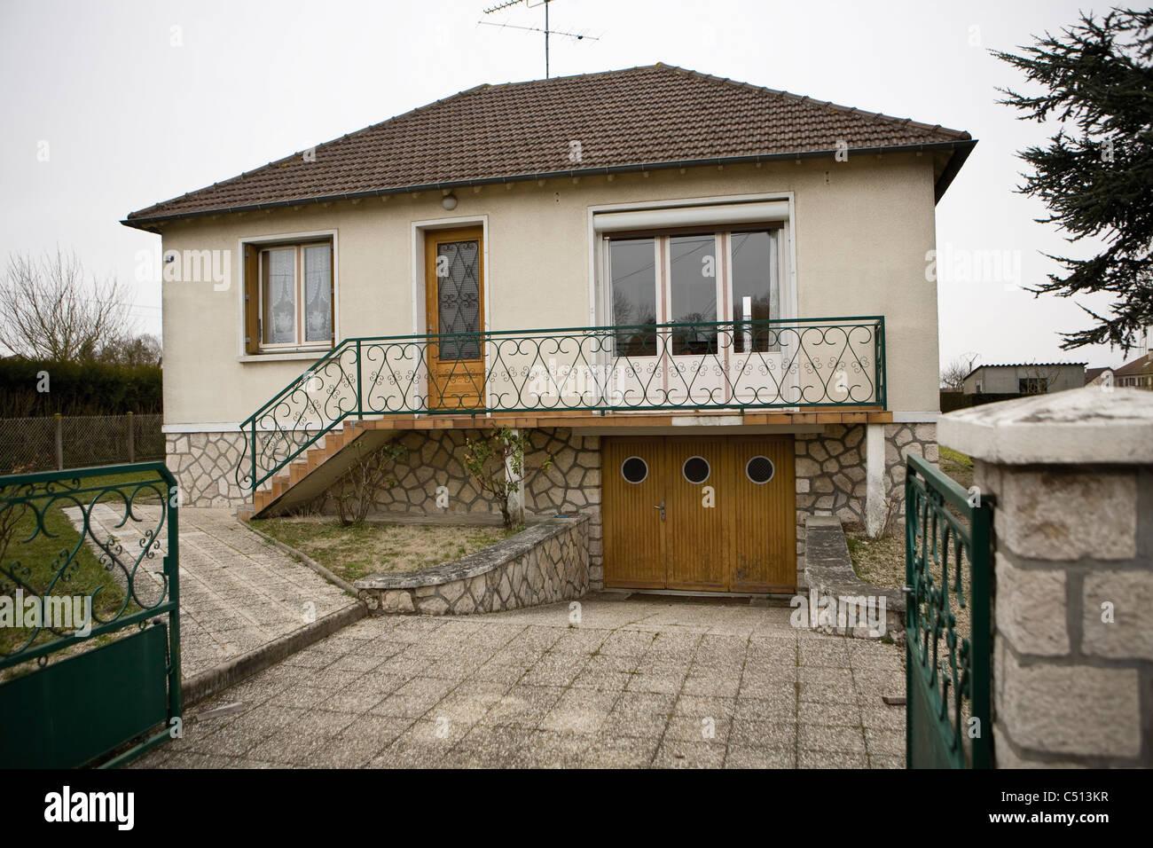 Stucco house - Stock Image