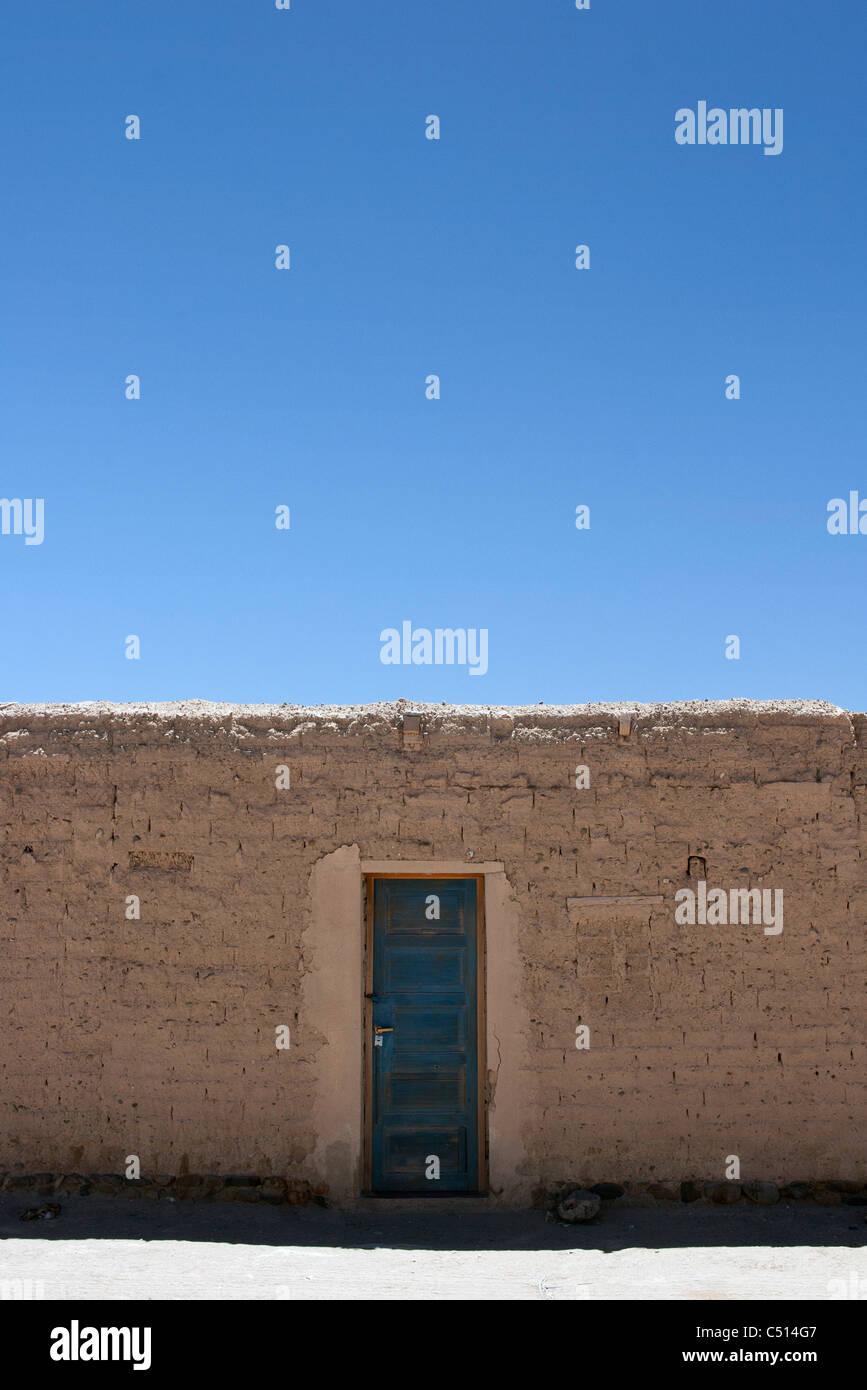 Door in wall - Stock Image