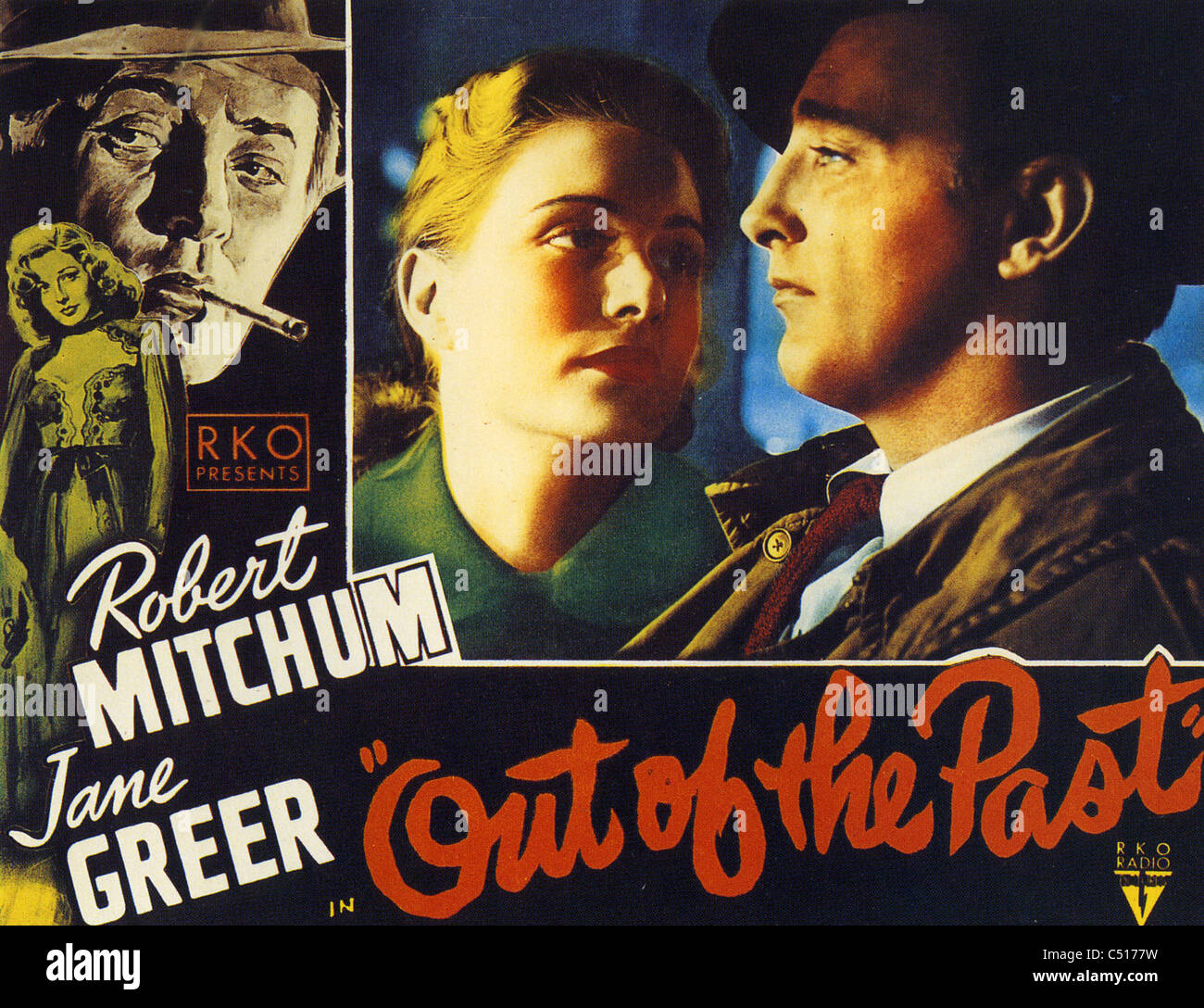 OUT OF THE PAST 1947 RKO film with Robert Mitchum and Jane Greer - Stock Image