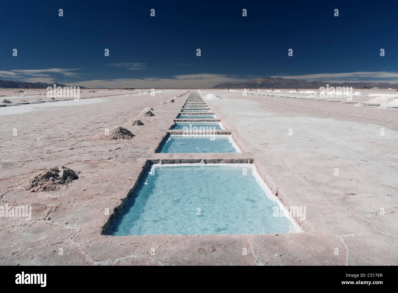Salt farming Stock Photo