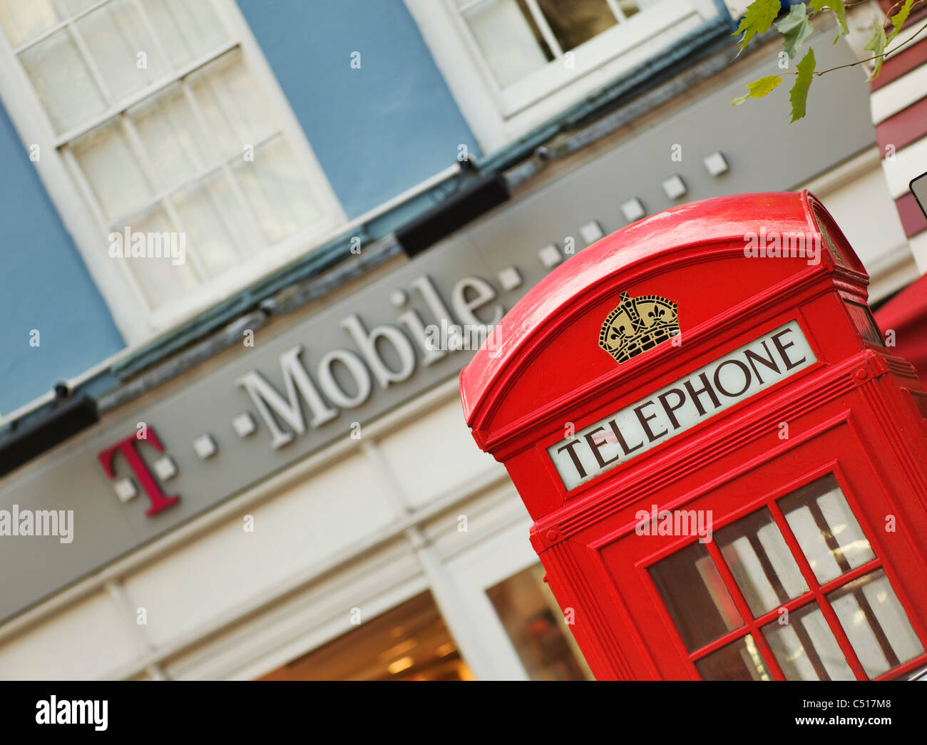 T-Mobile telephone box - Stock Image