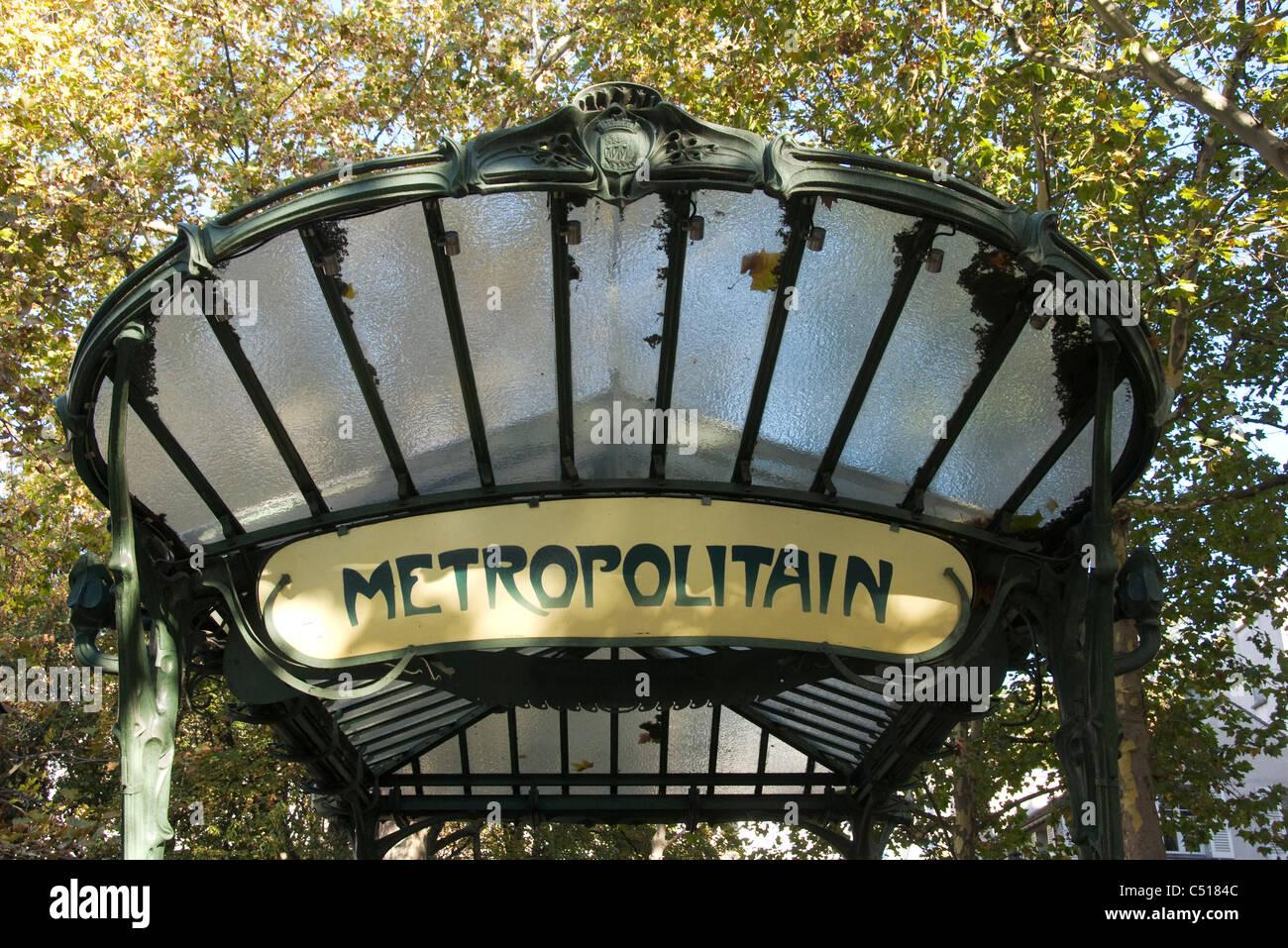 Paris metro sign - Stock Image