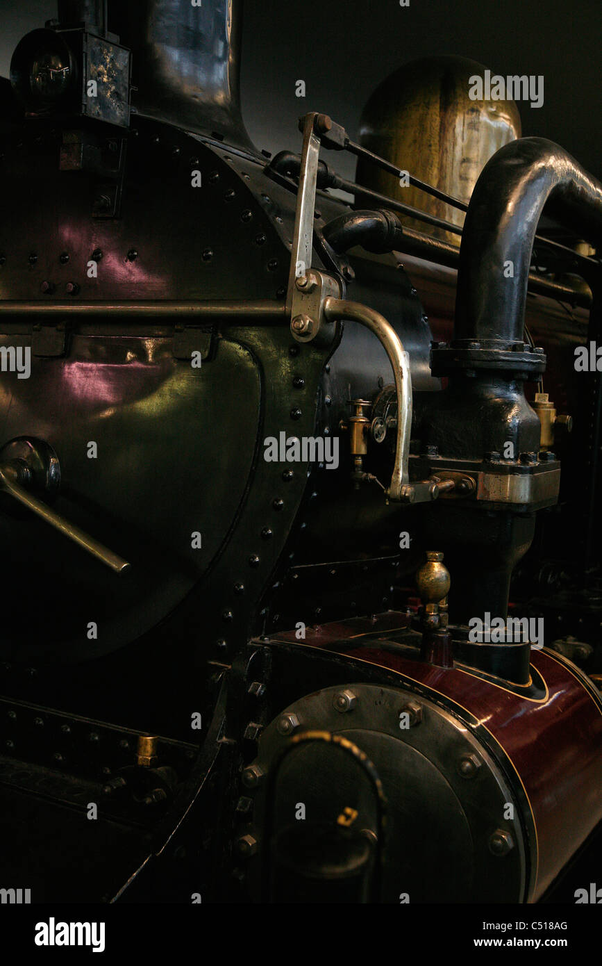 Antique steam train locomotive - Stock Image