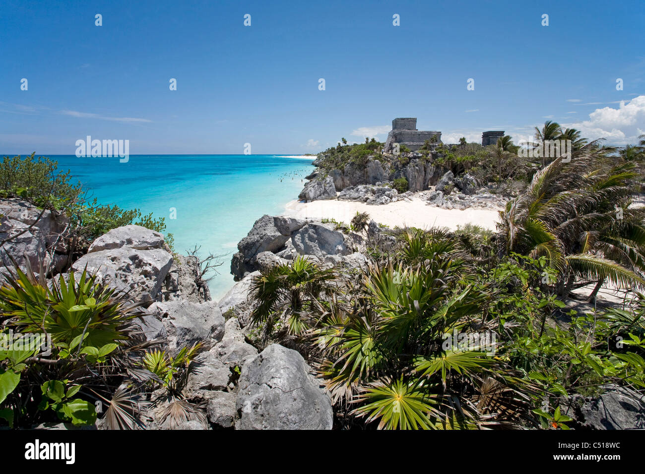Mayastaetten von Tulum Quintana Roo, Yukatan, Mexiko,  Tulum ruins, Yucatan, Mexico - Stock Image