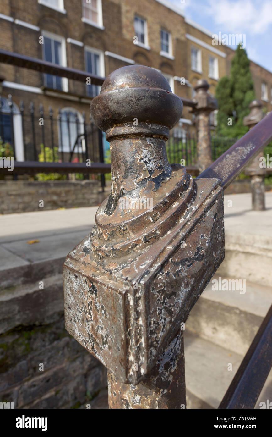 Steel Handrail, Islington, London - Stock Image