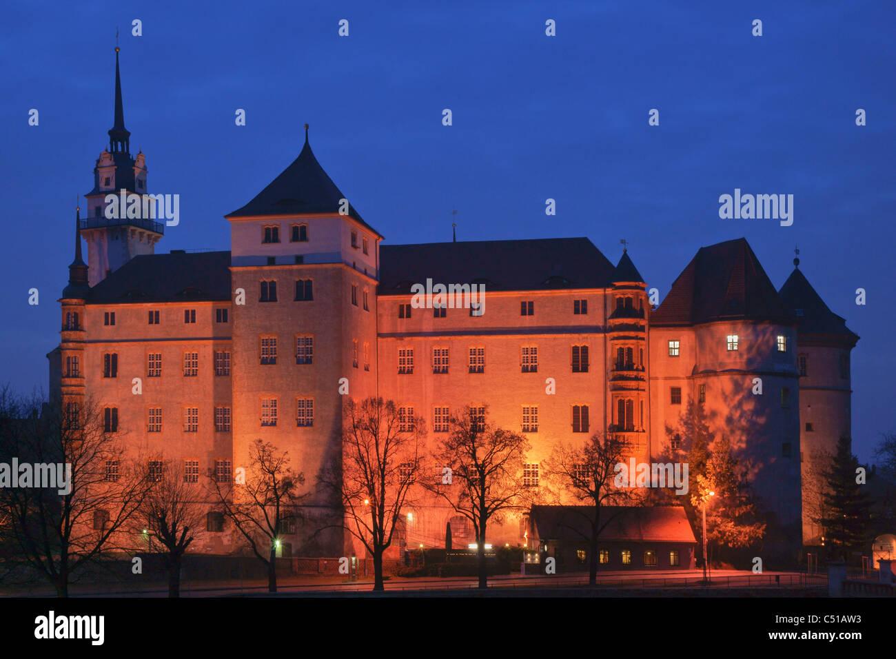 Hartenfels Castle Torgau Saxony Germany Europe Stock Photo