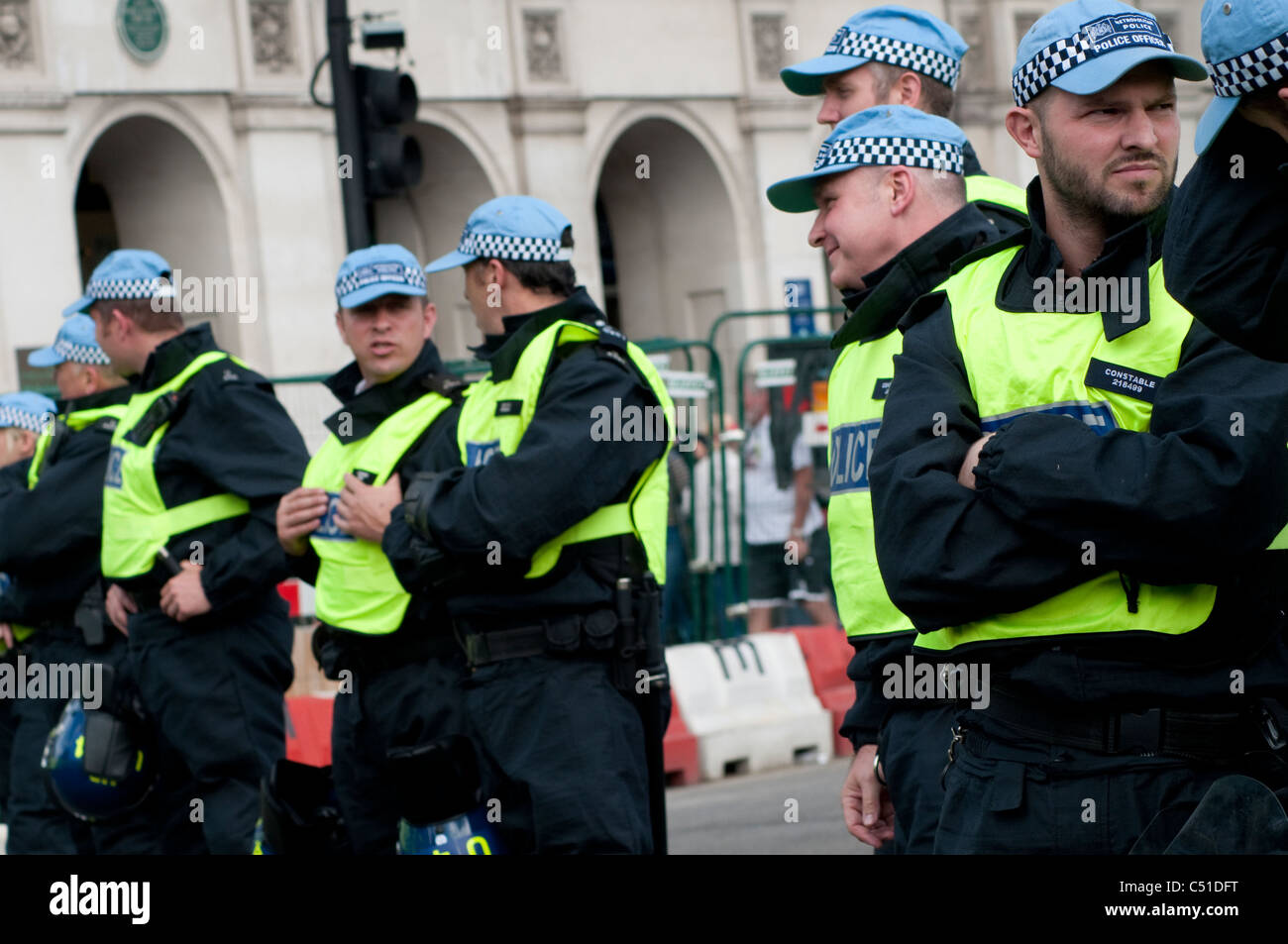 Riot police during Public sector pensions strike, London, 30/06/2011, UK - Stock Image