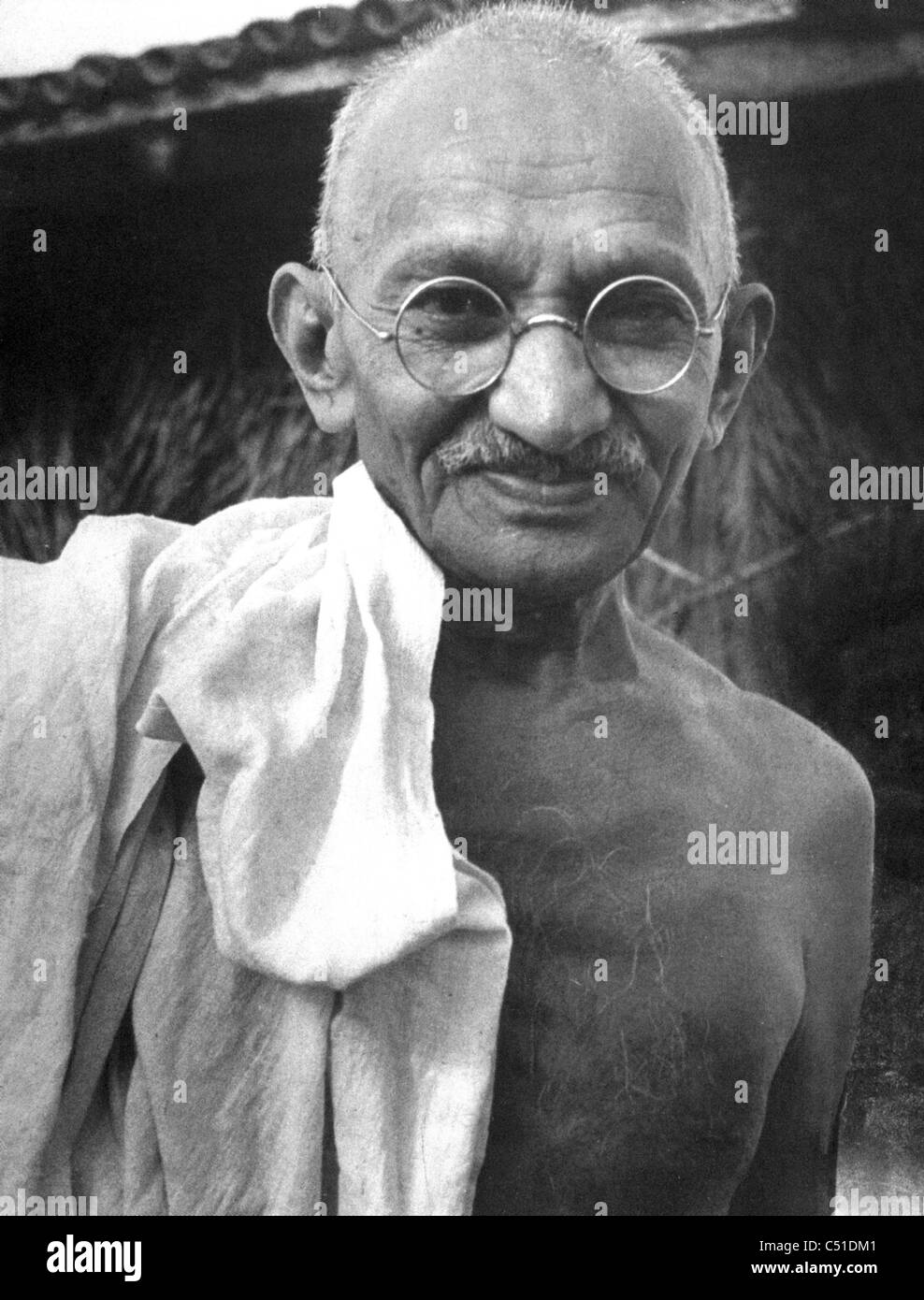MOHENDRAS GANDHI (1869-1948)  Indian political and ideological leader about 1940 - Stock Image