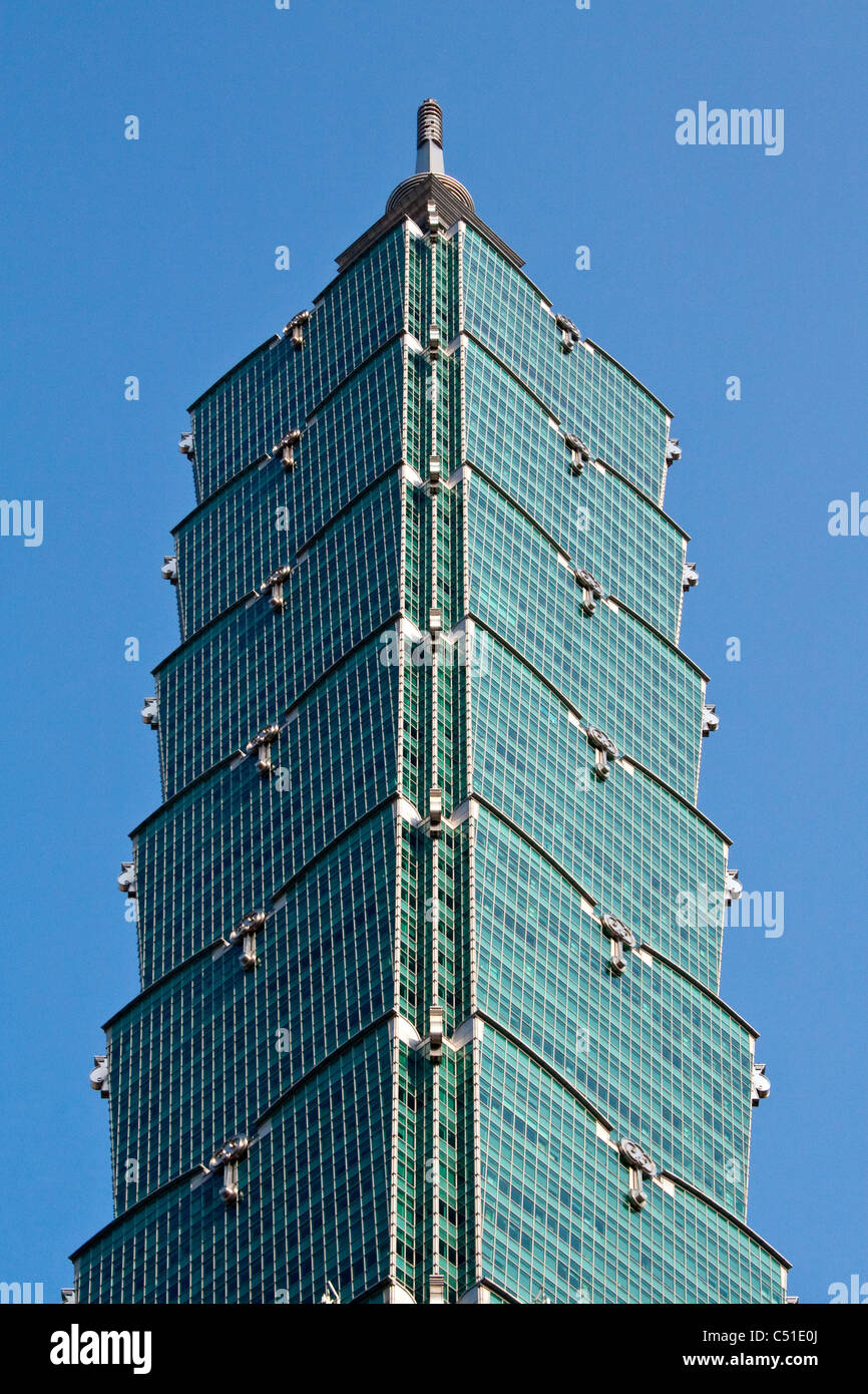Top of Taipei 101, Taipei, Taiwan - Stock Image