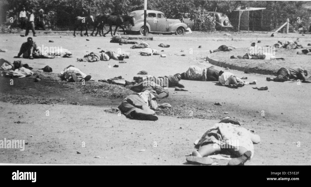 SHARPEVILLE MASSACRE 21 March 1960 in Transvaal Province, South Africa - Stock Image
