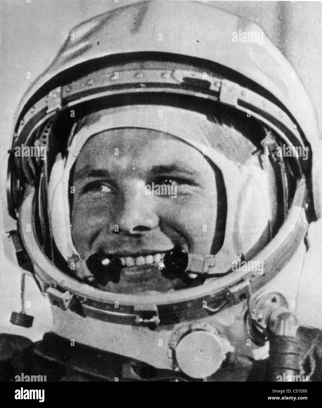 YURI GAGARIN (1934-1968) Soviet astronaut,first person to enter outer space when his Vostok space orbited the earth - Stock Image