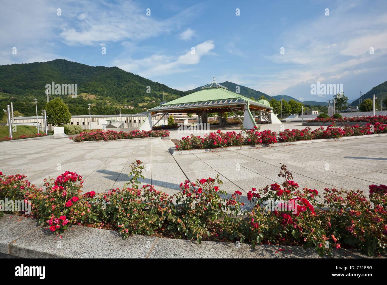 Potocari, Srebrenica, Bosnia and Herzegovina - Stock Image