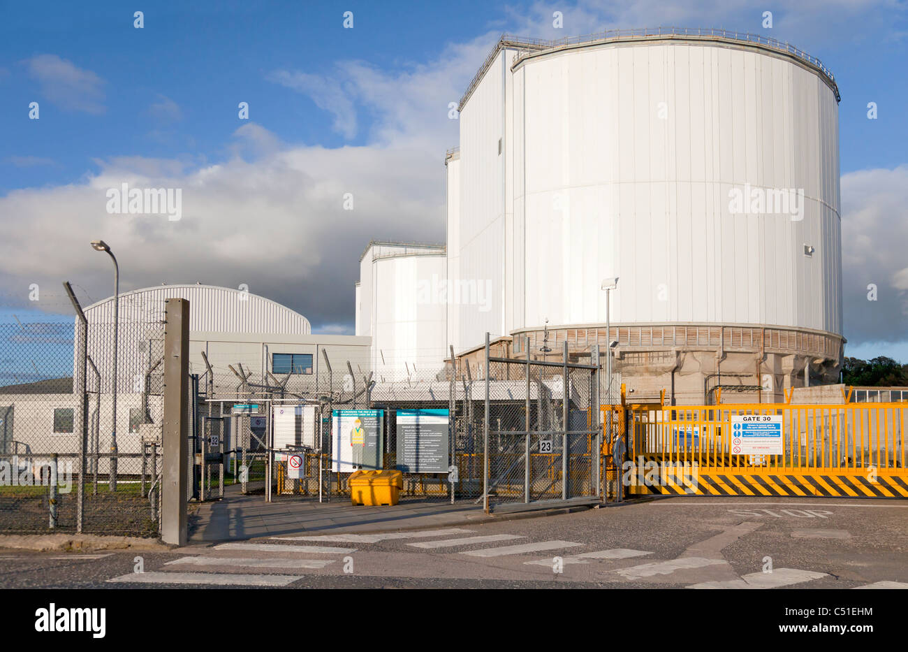 Entrance to the Hunterston A Nuclear Power Station (being decommissioned) in North Ayrshire, Scotland, UK - Stock Image
